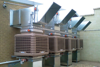 Warwickshire council has installed an EcoCooling evaporative cooling system (photo: EcoCooling)