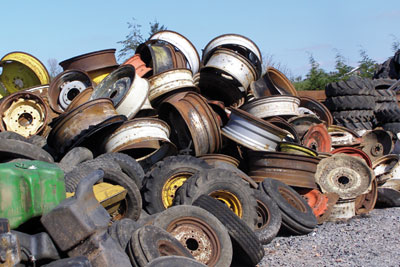 Milliken stored a large amount of scrap and vehicle parts (photo: Environment Agency)