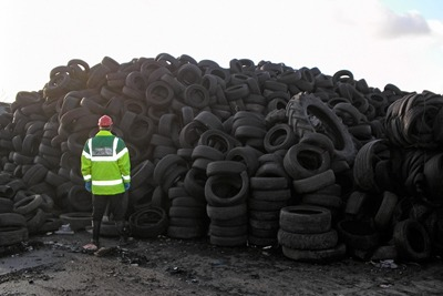 The Environment Agency prosecuted for 636 incidents in 2010/11, including the illegal dumping of hundreds of thousands of tyres by Lincolnshire man Carl Steele (photo: Environment Agency)