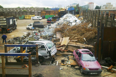 Metal & Waste Recycling Ltd was seen handling scrap metal, with vans and trucks continually coming on to the site and unloading consignments (photo: Environment Agency)