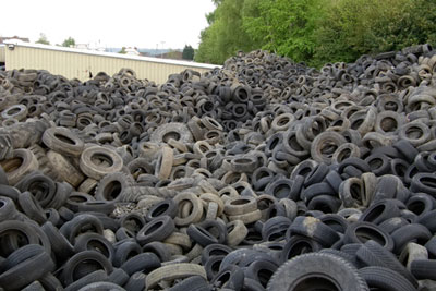 Tyres were stored illegally at the Whitelea Grove site at Mexborough, Doncaster (picture: Environment Agency)