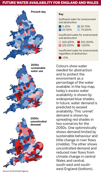 Future water availability for England and Wales