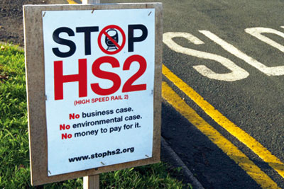 Opposition to the HS2 scheme has been vocal (picture: David Jones/PA Wire/Press Association)