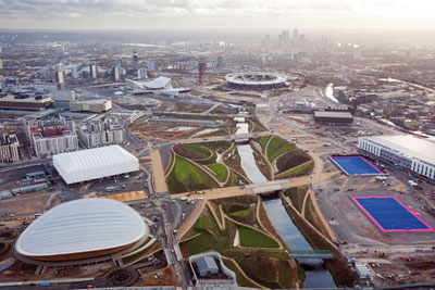 A wide array of environmental works on the Olympic park finished in February