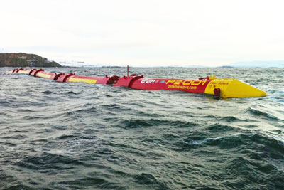 The eligibility criteria restricts applicants to developers that have already tested commercial-size devices, such as Pelamis Wave Power