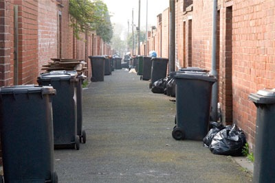 About 26,000 of Stoke's terraced houses and flats already have weekly bin collections (photo: Pete Hill/Alamy)