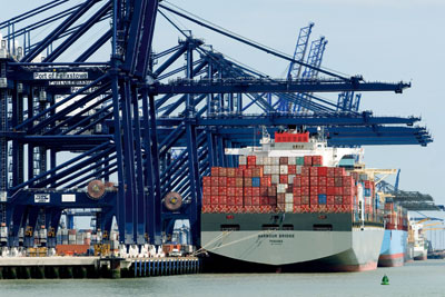 Imports accounted for almost half of the UK's carbon footprint in 2009 (photo: Clynt Garnham Shipping/Alamy)