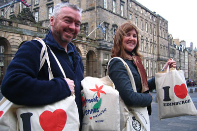 The Scottish government is proposing to charge for carrier bags (photo: Edinburgh Greens CC BY 2.0)