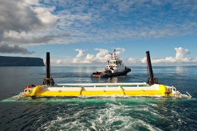 Aquamarine Power's Oyster wave energy device in Orkney