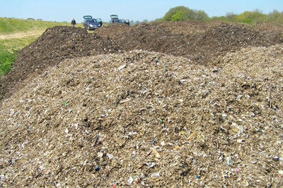 Compost contained plastic items, including kitchen knives, bottle tops and cigarette lighters (credit: Environment Agency)