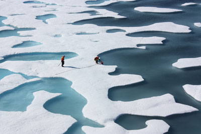 Arctic ocean summer sea ice has fallen to its lowest record level (credit: NASA/Kathryn Hansen CC BY 2.0