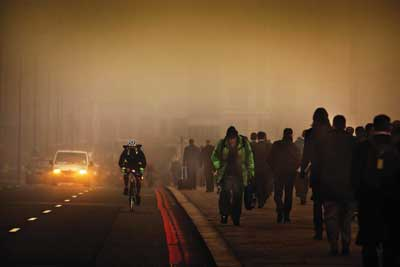 London pollution. Credit: Barry Lewis/ Alamy