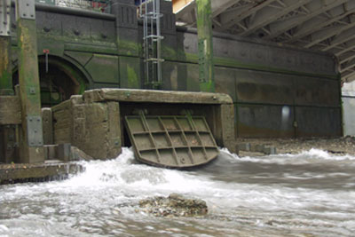 Stormwater overflower into the Thames (Photograph: Environment Agency)