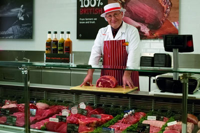 Sainsbury's meat counter