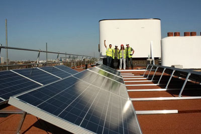 Solar panels, Brixton. Credit: Southern Solar