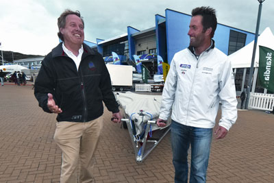 John Tweed (left) with Olympic sailing gold medallist Ben Ainslie