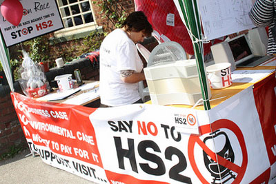 The proposed HS2 high-speed rail line is facing oposition from more than 70 local groups (photograph: The Lichfiled Blog, CC by SA 2.0)
