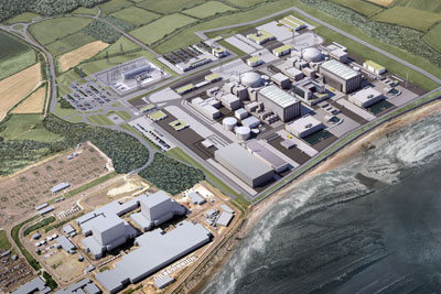 A new nuclear power plant is planned for Hinkley Point C, Somerset (photograph courtesy of EDF Energy)