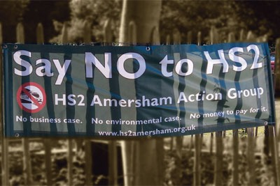 HS2 banner. Credit:Time lapsed CC BY NC 2.0