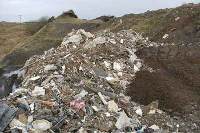 Waste found buried in the Armdale site, West Lothian. Credit: SEPA