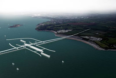 Harfen Power's Severn barrage would stretch from Brean in England to Lavernock Point in Wales