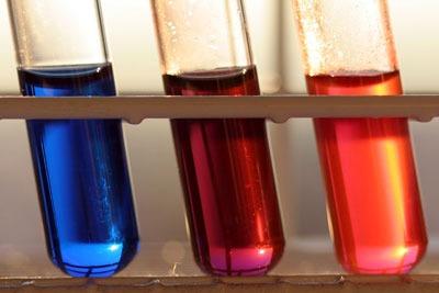 Chemicals in test tubes CCA SA3. Credit: Armin Kübelbeck