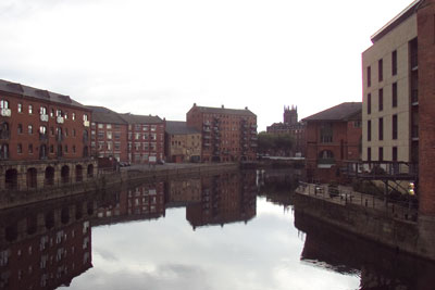 The River Aire from Leeds Bridge. Credit:Green Lane CCA SA3