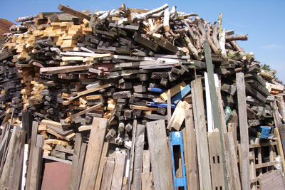 Pile of wood. Credit: stev.ie