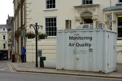 Monitoring station in Norwich (photograph: Gareth Simkins)