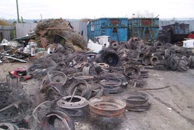 Scrap yard waste. Credit: Environment Agency
