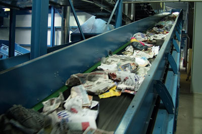 MRF recycling. Credit: Cleanaway
