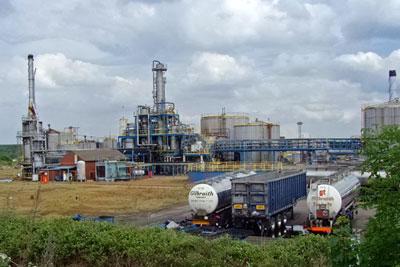 Kopper's tar distillation plant, Scunthorpe (photograph: Paul Harrop, CC by SA 2.0)