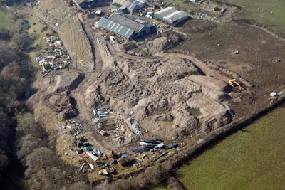George Denham allowed soil to be illegally dumped on his Caernarfon farm (credit: Natural Resources Wales)