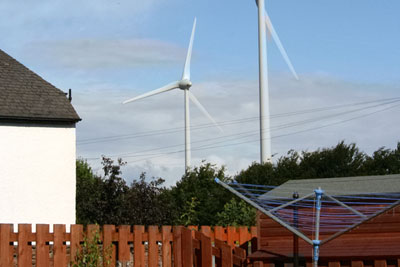 Buffer zones are created to keep wind farms away from homes (photograph: Stephen Find/Dreamstime.com)