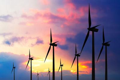 Wind turbines (photograph: Dreamstime.com)
