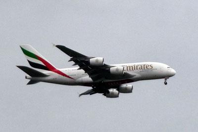 Emirates aircraft (photograph: Gareth Simkins)