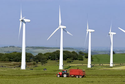 Planning departments must take account of onshore wind turbines' visual impacts (photograph by Richard Messe/Dreamstime.com)