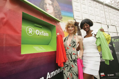 Oxfam clothes recycling bank (credit: M&S)