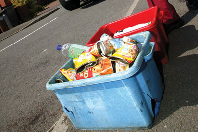 The final destination of waste from our doorsteps is currently unclear (credit: WRAP)