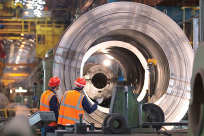 Steel manufacturing is at risk of carbon leakage according to EU guidelines (credit: Monty Rakusen/Alamy)
