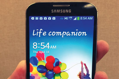 The Galaxy S4 is a greener handset (credit: John Biehler)
