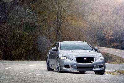 Jaguar car on road