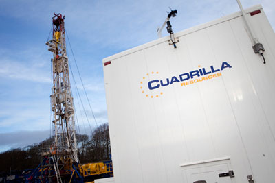 Cuadrilla fracking operation (photograph courtesy of Cuadrilla)