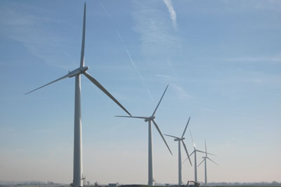 Westmill Co-op's wind turbines. Credit: Energy4all