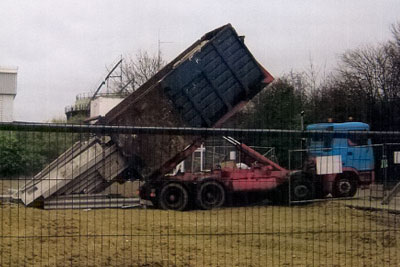 Asbestos was dumped at several sites around east England in early 2009 (photogaph: Environment Agency)