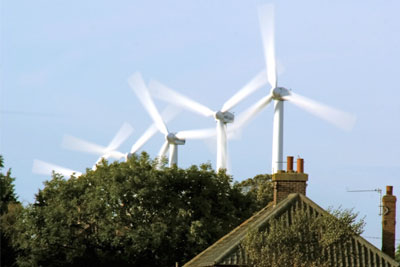 Onshore wind may affect house prices (photograph: Powered by Light/Alan Spencer/Alamy)