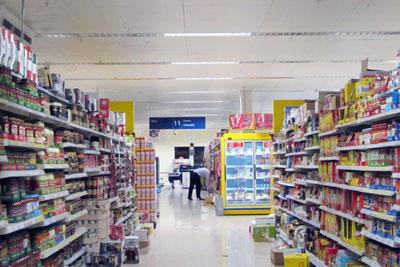 Supermarket shelves. Credit: Danny Nicholson