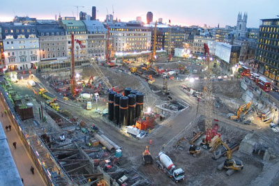 Bloomberg's new London HQ is being built on foundations made using Hanson's lower-carbon concrete. Credit: Hanson
