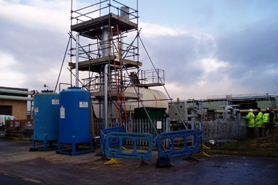 A siloxane plant at the work caught fire and exploded (credit: Environment Agency)