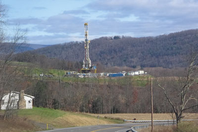 Many studies have been carrie dout on the wells in the US Marcellus shale. Credit: RUHRFISCH (Talk)/ GFDL CC-BY-SA